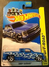 Hot Wheels CUSTOM Super Treasure Hunt Chevy Silverado with Real Riders