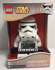 NEW IN BOX Star Wars LEGO Stormtrooper Digital Alarm Clock Lights Up Poseable