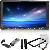 "2016 Car Stereo Audio DVD Player 7""Touch Screen 2Din In Dash Radio CD SD MP3 USB"