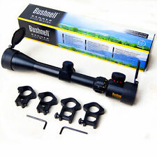 Free Shipping Bushnell 3-9x40 Tactical Sniper Rifle Scope with 4 Rings GRillumin