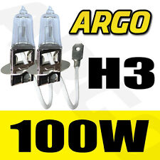 SEAT IBIZA MK4 H3 100W HALOGEN SUPER CLEAR 453 HID HEADLIGHT BULBS SET KIT 2 PCS