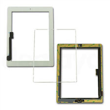 For iPad 3/4 White Replacement Screen Touch Digitizer+Mid Frame Bezel&HomeButton