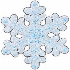 Snow Snowflake White Cartoon Kids Princess Children Christmas Iron On Patch 0406