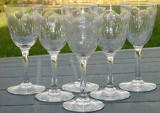 Baccarat - Service de 6 verres en cristal taillé, modèle Molière.Cat.1916. H12,1