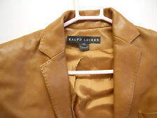 RALPH   LAUREN   WOMEN'S   LEATHER   JACKET   SIZE  4   (  Made   in   Italy  )