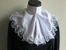 ADULT MENS LACE JABOT COLONIAL CAPTAIN PIRATE RENAISSANCE COSTUME COLLAR WHITE
