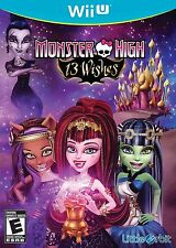 Monster High: 13 Wishes USED SEALED (Nintendo Wii U, 2013)