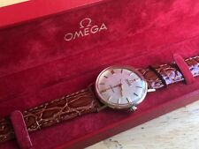 Omega Automatic Seamaster 14K Solid Yellow Gold Cal 552 Front Loading Runs BOX