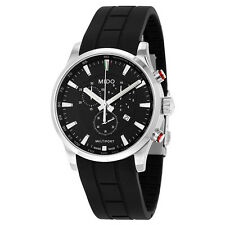 Mido Multifort Chronograph Black Dial Black Rubber Mens Watch M0054171705120