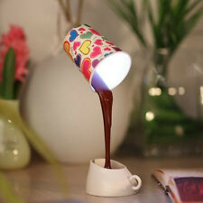 Bedroom USB Pour Coffee Lamp 8LED DIY Table Lamp Night Light Bedside Lamp WB