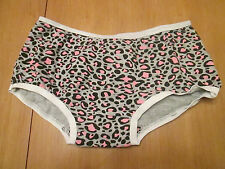 Ladies grey and pink print cotton knickers Brand name Imani size 8