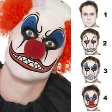 Fancy Dress Clown Make Up Face Paint Nose Crayons Sponge Set by Smiffys New