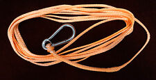 High Strength Trailer Winch Rope - 5mm x 6Mtr - 2500Kg - S/S Snap Hook