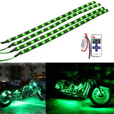 Green Wireless Remote LED Flexible Strip Kit Motorcycle Lights For Harley