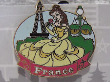 New Disney Princess Belle France WDW Epcot World Showcase Booster Trading Pin