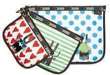 NWT LeSportsac Peter Jensen Collection 3-Pc. Travel Pouch Set  $78