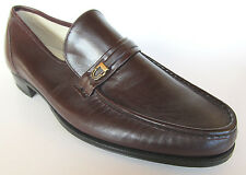 Vintage Florsheim Imperial Mens Como Slip On Loafer Dress Shoes Brown Sz 10D New