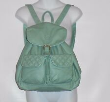 Icing Faux Leather Backpack Book Bag Handbag Tote Blue NWT