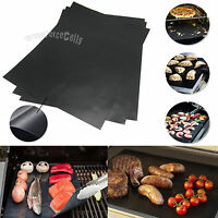Pack of 3 Non-Stick Reusable Barbecue BBQ  Grilling Cooking Baking Mat Sheet