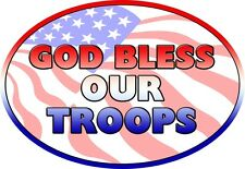 Military Magnet God Bless Our Troops USA Made Oval for Car Refrigerator Magnet