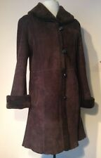 Searle 100% Genuine Sheepskin Brown Fur Coat XS