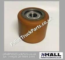 D85 x W75mm P/U & steel core pallet truck load roller/ wheel inc D20mm bearings