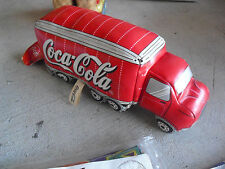 "COOL Plush Coca Cola Tractor Trailer Truck 9"" Long LOOK"