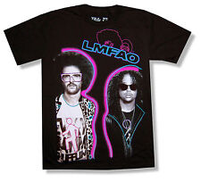 "LMFAO ""GLOW PHOTOS"" BLK T-SHIRT NEW PARTY ROCK CLOTHING OFFICIAL ADULT SMALL S"