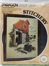 Vintage Sealed Paragon Needlecraft CREWEL Embroidery Kit THE CHOPPING BLOCK 0907