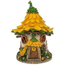 NEW FAIRY GARDEN - SOLAR LED - LARGE FAIRY DELL SUNFLOWER HOUSE - 29CM