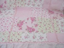 Cynthia Rowley Twin Size Quilt Pink Patchwork Floral Romantic Cottage Style