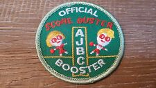 Vintage AJBC Junior Bowling Score Buster Booster Patch