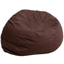 Flash  Oversized Solid Brown Bean Bag Chair [DG-BEAN-LARGE-SOLID-BRN-GG]