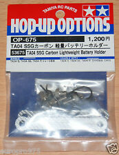 Tamiya 53675 TA04 SSG Carbon Lightweight Battery Holder (TA-04/TA04S/TA04R), NIP