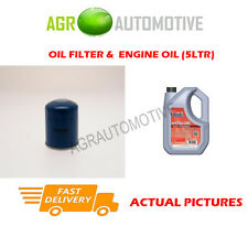PETROL OIL FILTER + FS 5W40 ENGINE OIL FOR ROVER 416 TOURER 1.6 111BHP 1994-98