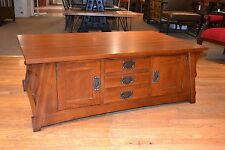 Mission Quarter Sawn White Oak Crofter style Coffee table Golden Brown stain