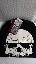 SKULL FACE FLIP DOWN BEANIE REVEAL SEE-THROUGH MESH MASK NEW WITH TAGS