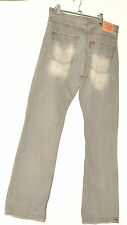 "LEVI STRAUSS & CO ORIGINAL 507 JEANS TROUSERS W 34"" L 34 FADED GREY"