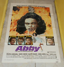 original ABBY one-sheet poster William Marshall Terry Carter Carol Speed