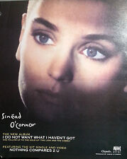 SINEAD O'CONNOR ADVERT POSTER I DO NOT WANT WHAT I HAVEN'T NOT REPRINT VERY RARE