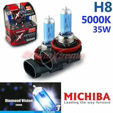 MICHIBA H8 35W 5000K Xenon Super WHITE Headlight Bulbs for NISSAN Front Fog Lamp