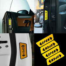 4Pcs Auto Sticker Reflective Car Door Opening Warning Safety Tips Decals Sign CN