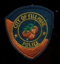 Fillmore Police California Reproduction Patch S-15