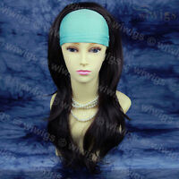 Lady Dark Brown 3/4 Half Wig Fall Hairpiece Extension Hair Piece from WIWIGS UK