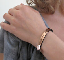 Personalized Womens Leather Bracelet. Adjustable Engraved Ladies Bracelet. ID