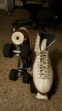 Vintage Ladies  RIEDELL SURE-GRIP ROLLER SKATES  leather size 9 professional!!!