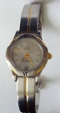 ANNE KLEIN II Watch -  Silver Tone w/ Gold Tone Stripe
