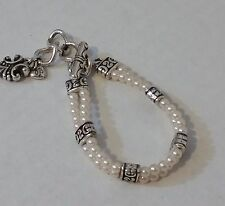 Vintage Estate Jewelry to Mod Brighton Silver and Pearl Lady Jane Bracelet