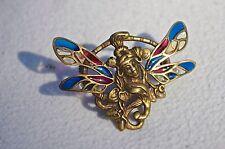 Un Vintage plique un jour Madera Ninfa Broche Pin