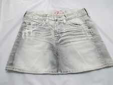 "WOMEN'S 7 FOR ALL MANKIND JEAN SKIRT GRAY/WHITE TAG SIZE  24  28"" WAIST"